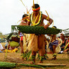 Getting ready to perform a men's dance for the Yap Day celebration on Guam, 2007