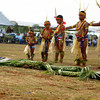 About to perform a men's dance for the Yap Day celebration on Guam, 2007