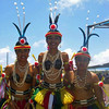 Three young dancers from Yap, performing for the Yap Day celebration on Guam, 2007