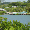 Houses along northern side of the upper reaches of Chamorro Bay, Colonia